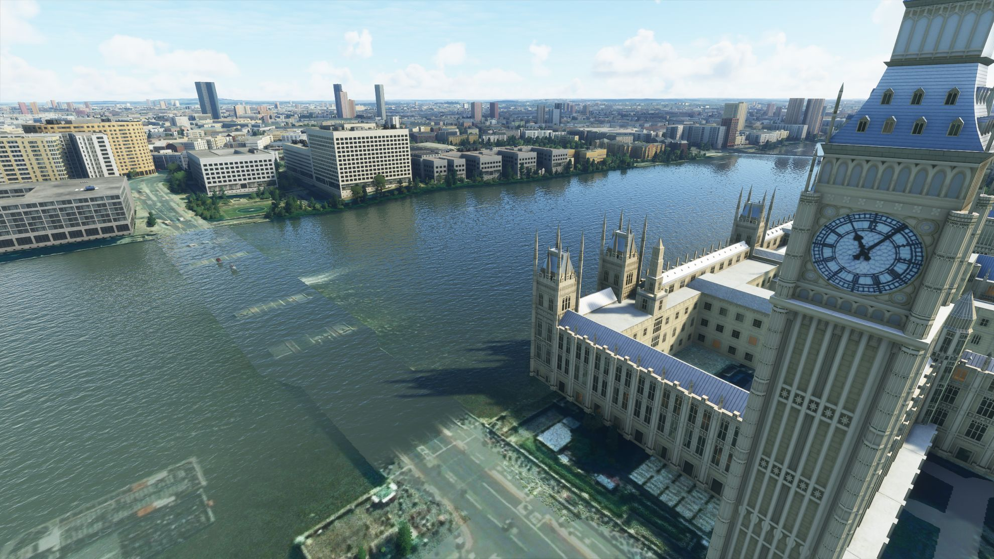 A bridge in London spawned underwater