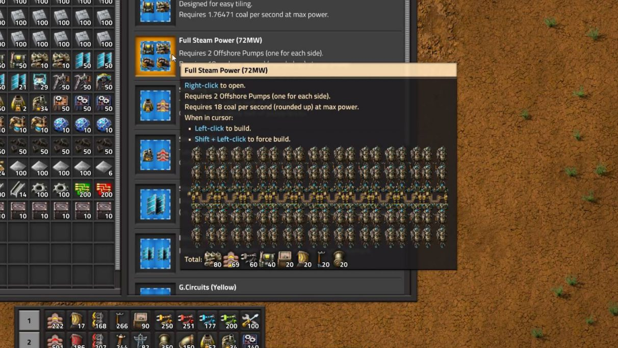 A glimpse at the Blueprint Library in Factorio (and one of the Blueprints included below).