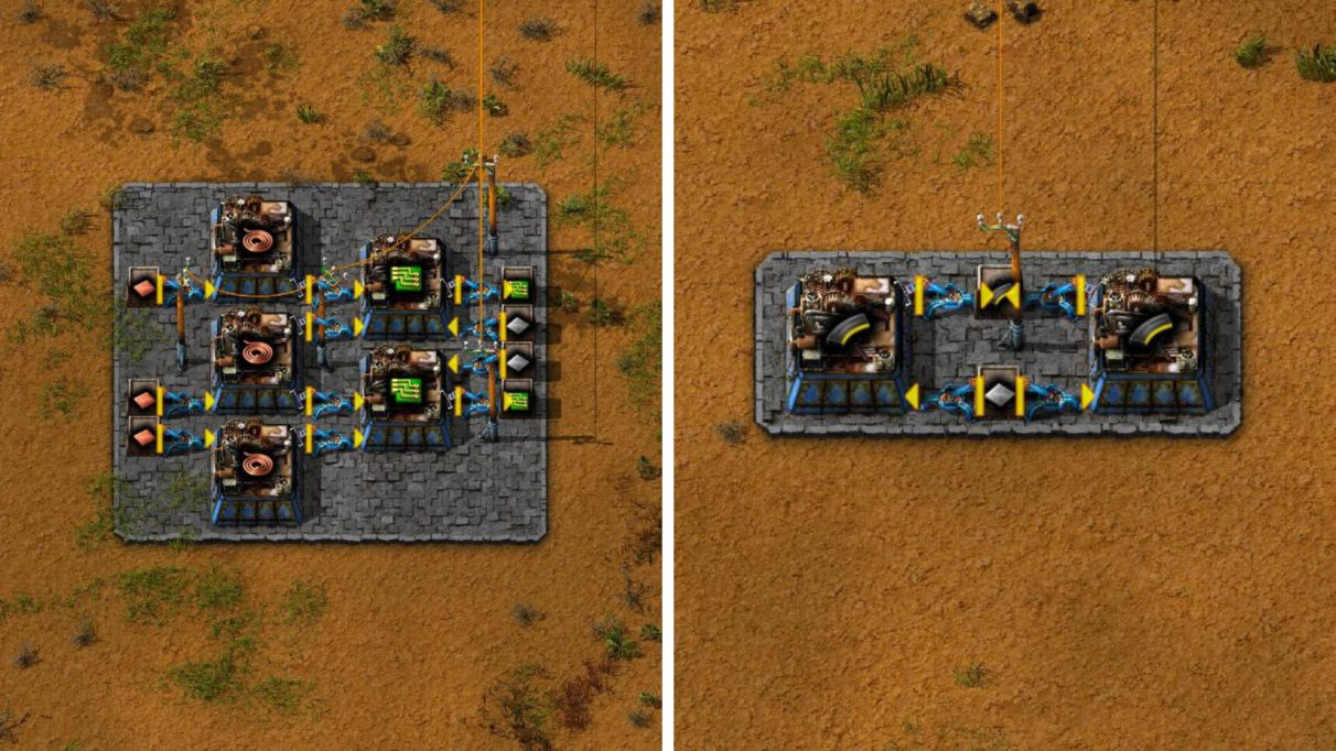 Left: Green Circuits (Extreme Early Game). Right: Ammo (Extreme Early Game).