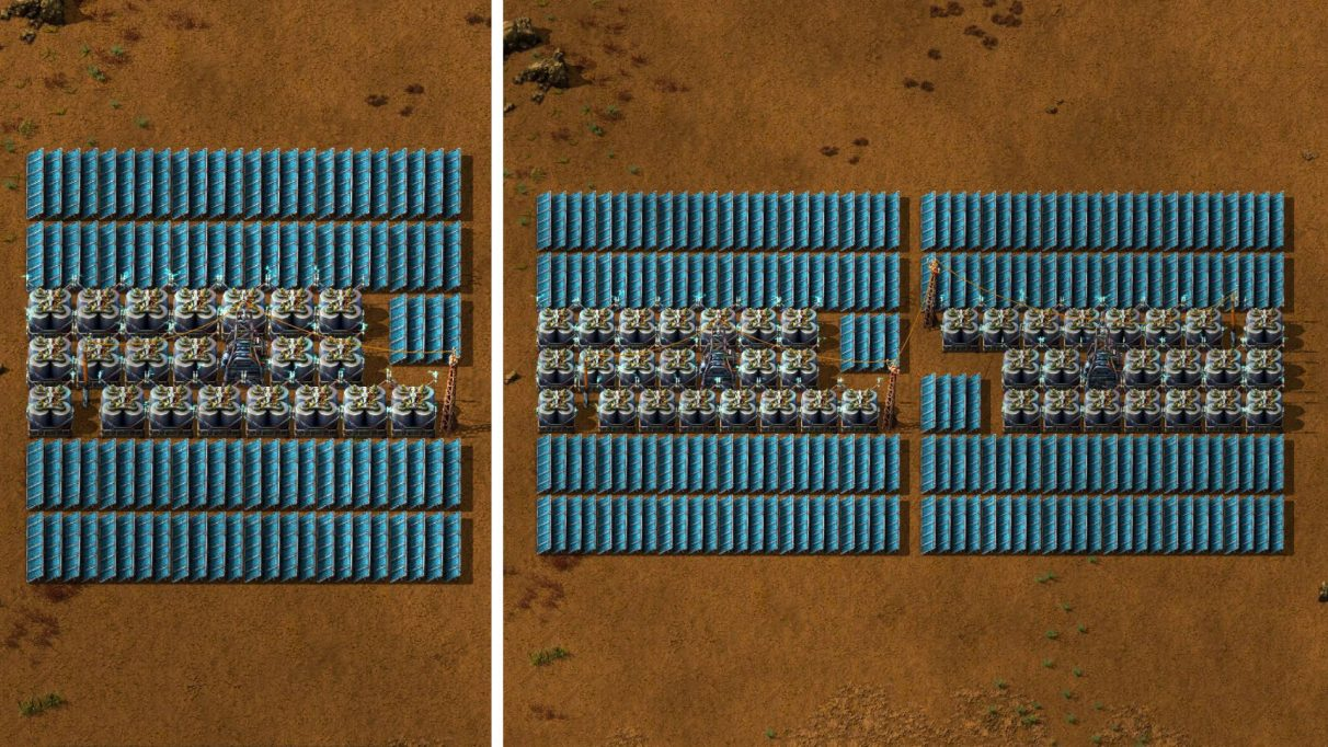 Left: Solar Power (Single). Right: Solar Power (Double).