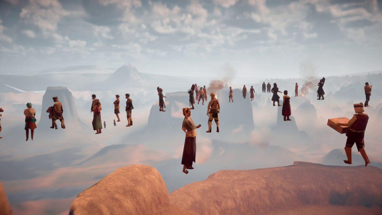 A screenshot of Horizon Zero Dawn's glitched benchmark