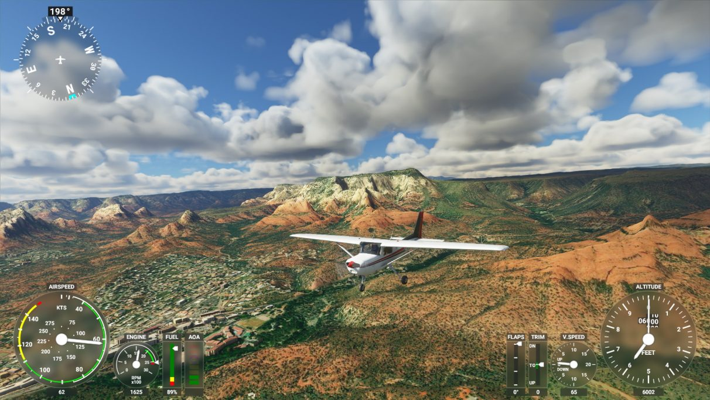 A screenshot of Microsoft Flight Simulator 2020 on its Medium graphics setting