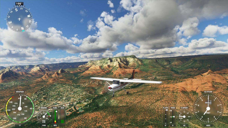 A screenshot of Microsoft Flight Simulator 2020 on its Ultra graphics setting