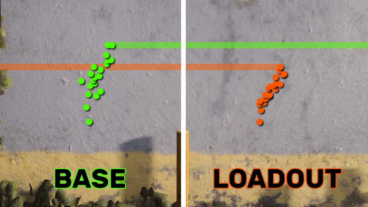 A side-by-side comparison of the recoil of the ISO in its base form, and with our best ISO loadout equipped.