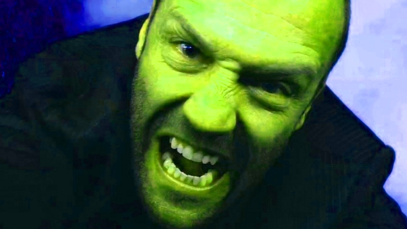 Jason Statham but he's green.
