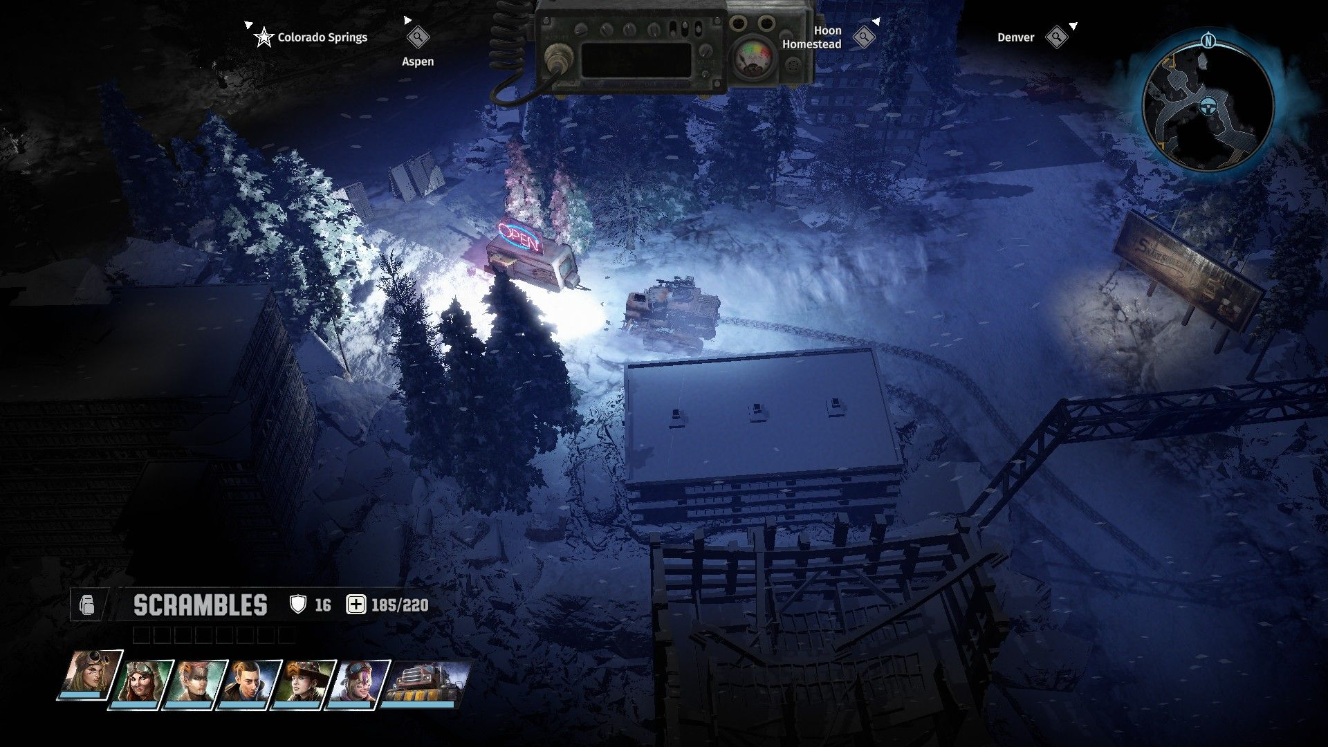 A screenshot showing the character levelling screen in Wasteland 3, for a locksmith called Beamer. They can level up skills in things like Lockpicking, Explosives, Mechanics and Toaster Repair.