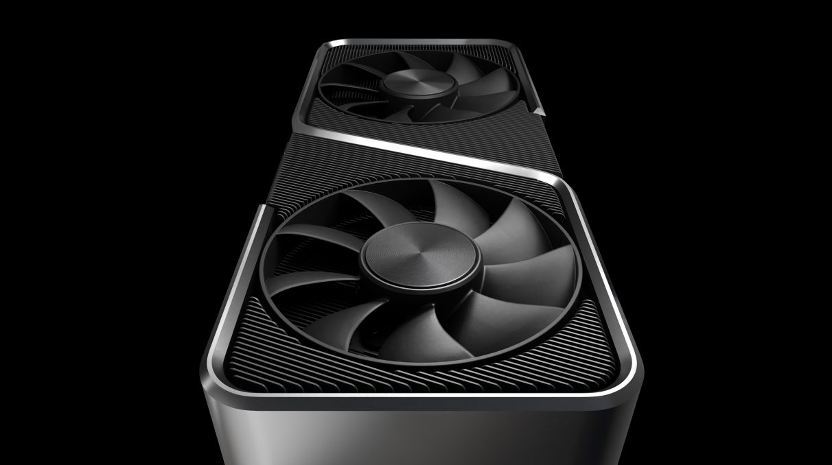 A photo showing the front of the RTX 3070