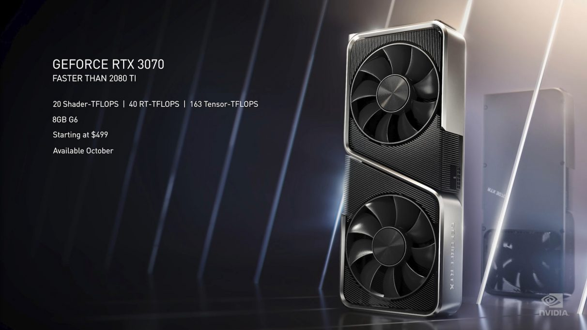 A photo of the Nvidia RTX 3070