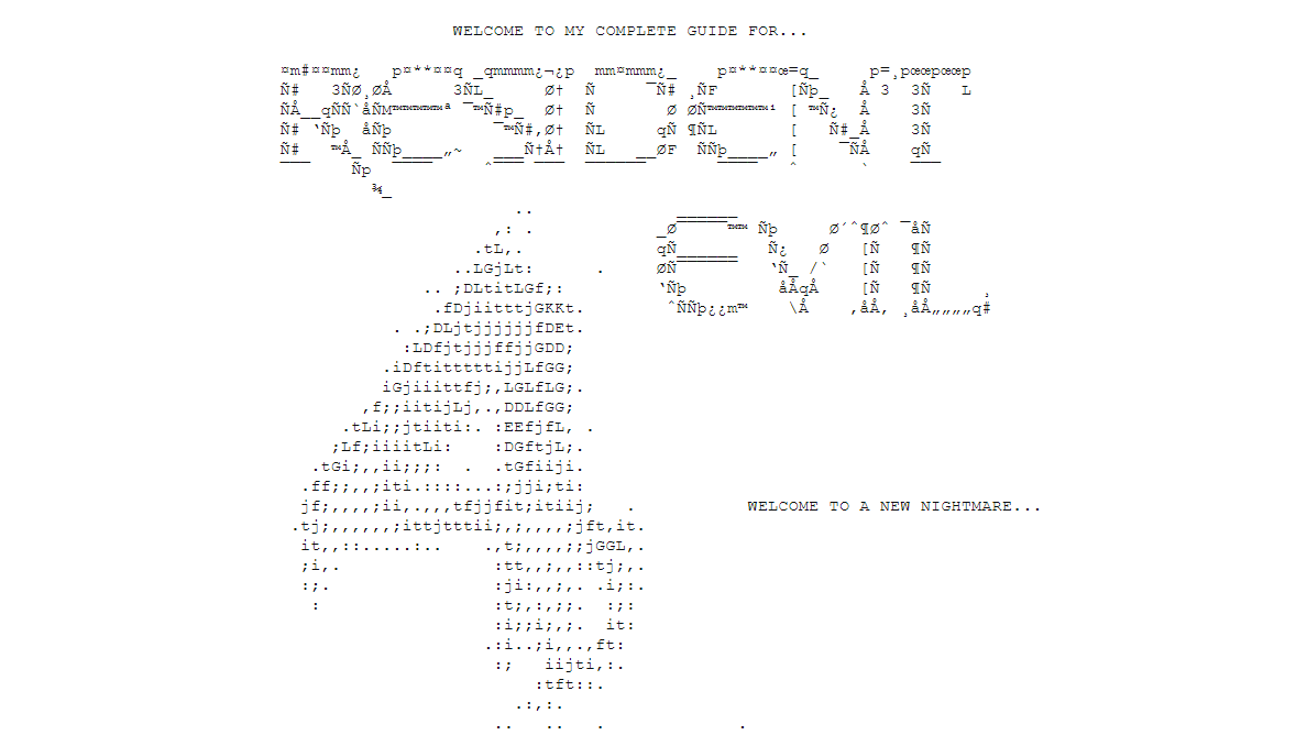 ASCII art of the Resident Evil 4 title