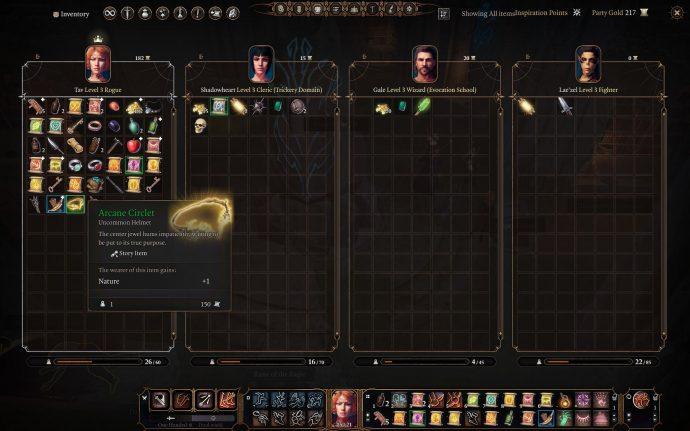 Arcane Circlet quest item in Baldur's Gate 3