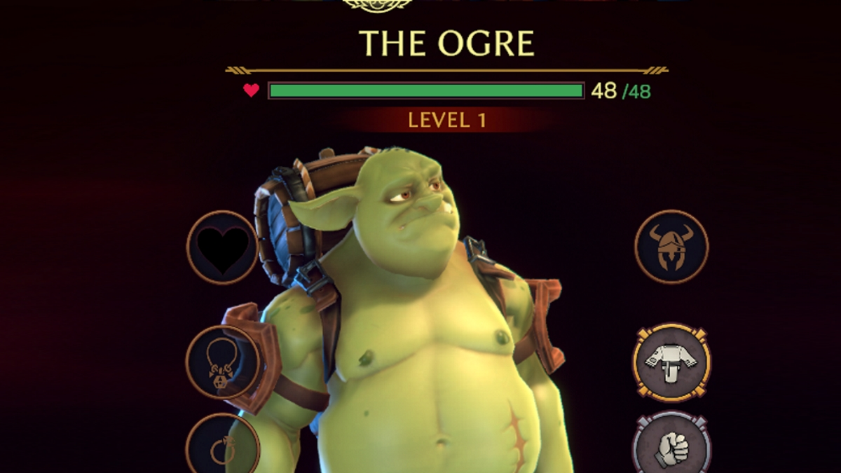 An ogre looks nonplussed