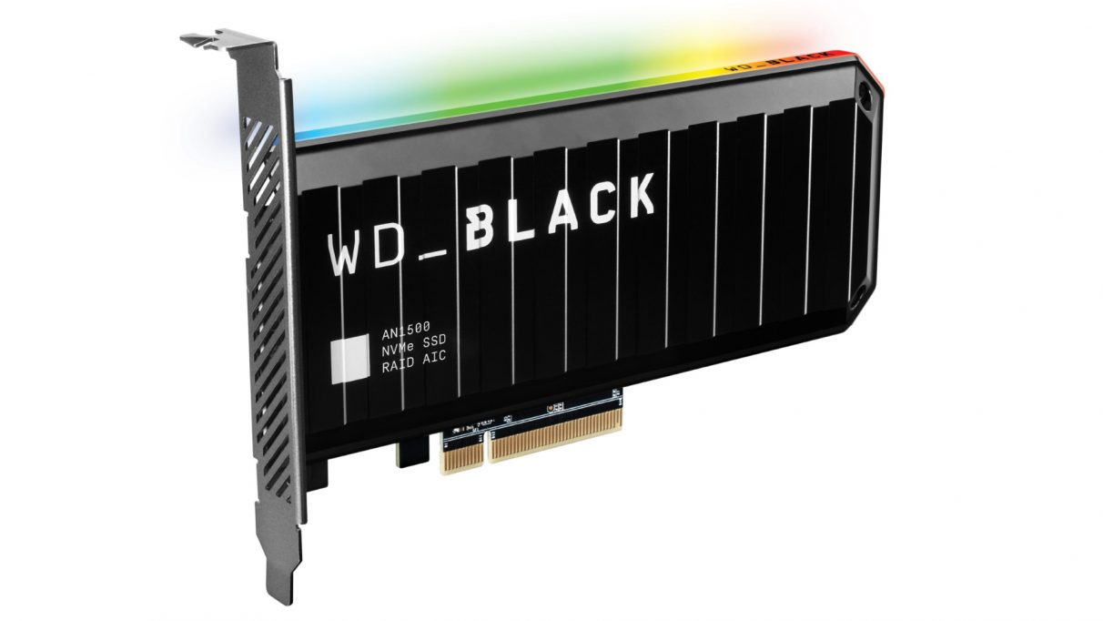 An image of WD's new Black AN1500 SSD card.