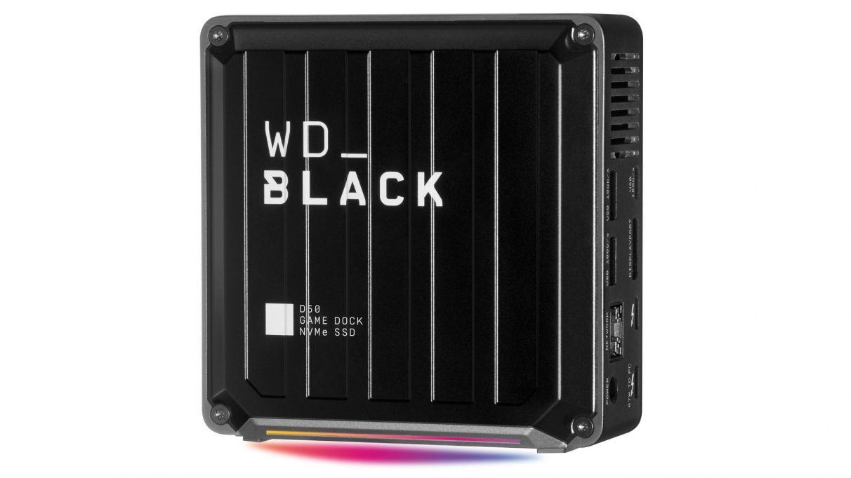An image of WD's new Black D50 Game Dock SSD