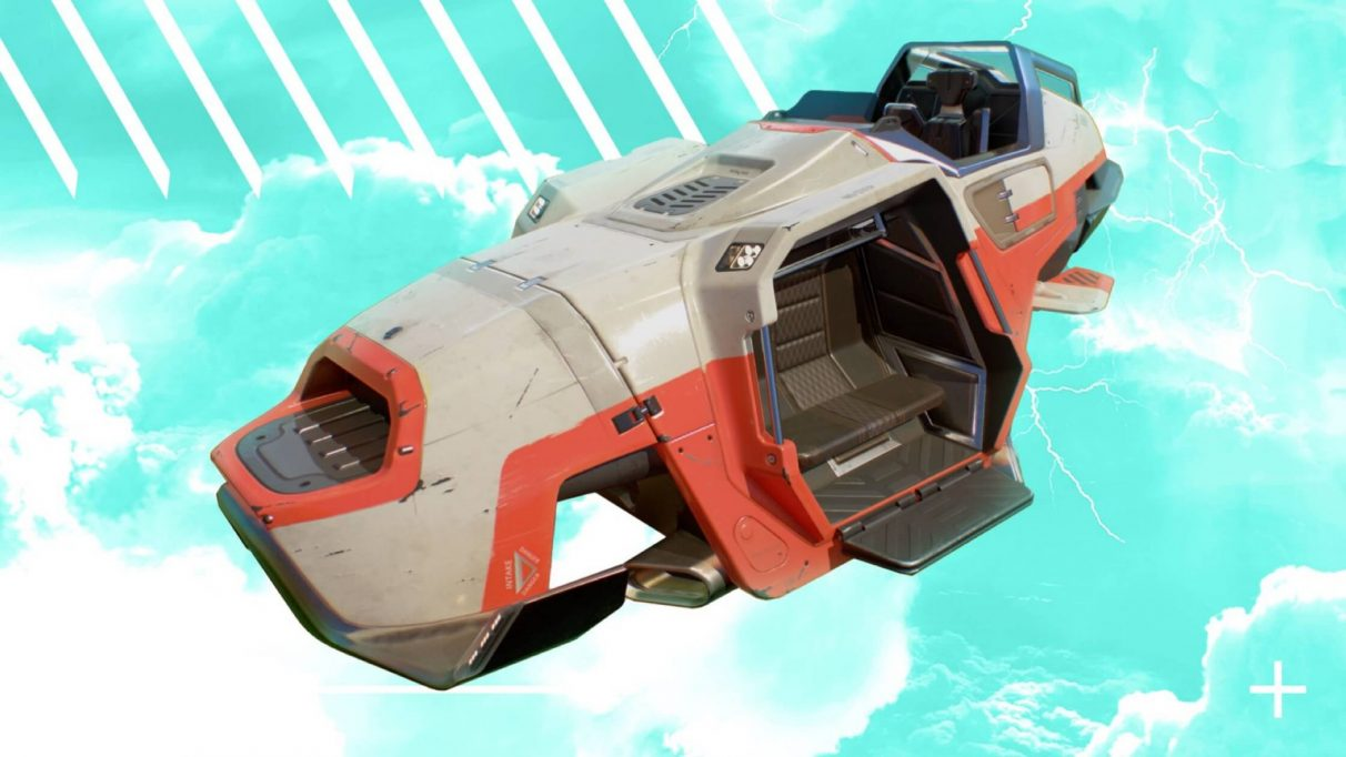 One of the new Trident vehicles in Apex Legends.
