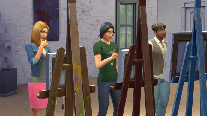 Sims painting in The Sims 4