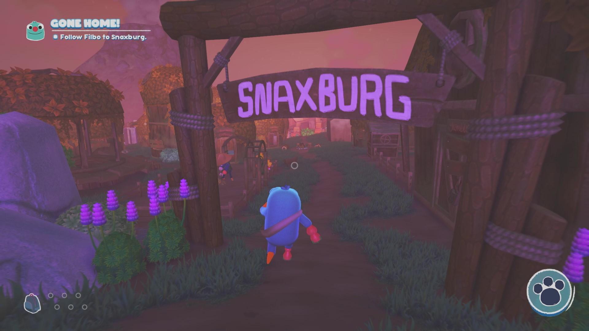 Filbo leads me to Snaxburg!