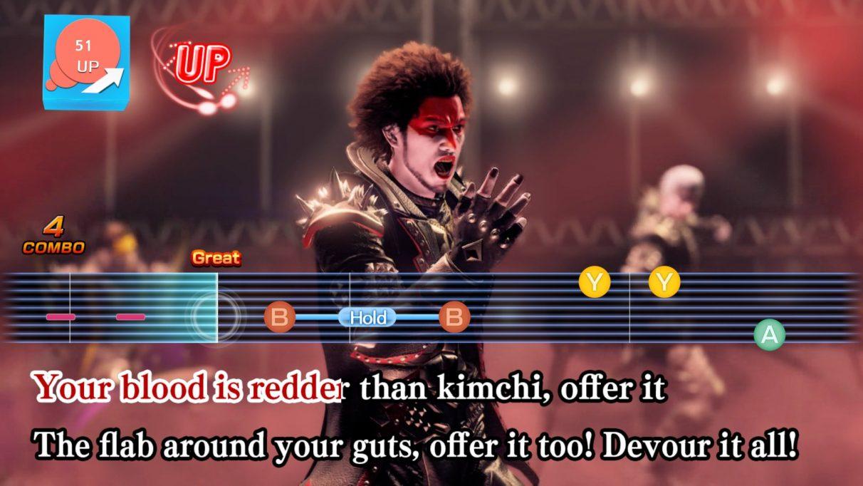 Singing Hell Stew in English in a Yakuza: Like A Dragon screenshot.