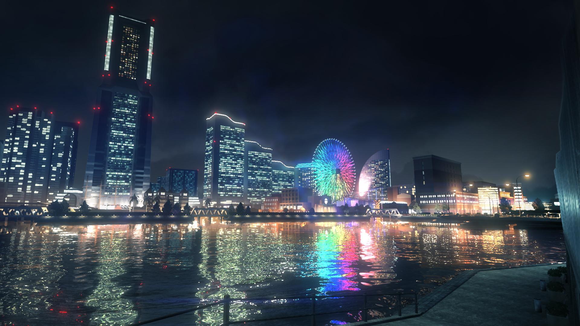 Yokohama at night.
