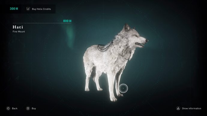 the Hati Wolf Mount in the store section of Assassin's Creed Valhalla