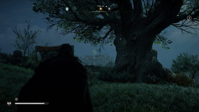A peculiar looking tree in the Oxenefordscire region of Assassin's Creed Valhalla