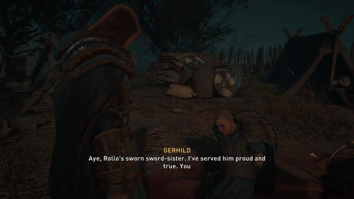 Speaking to Gerhild in Assassin's Creed Valhalla