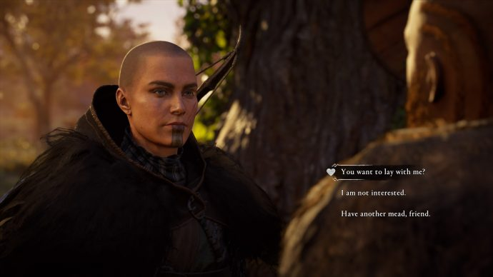 screenshot showing the Broder romance option in Assassin's Creed Valhalla