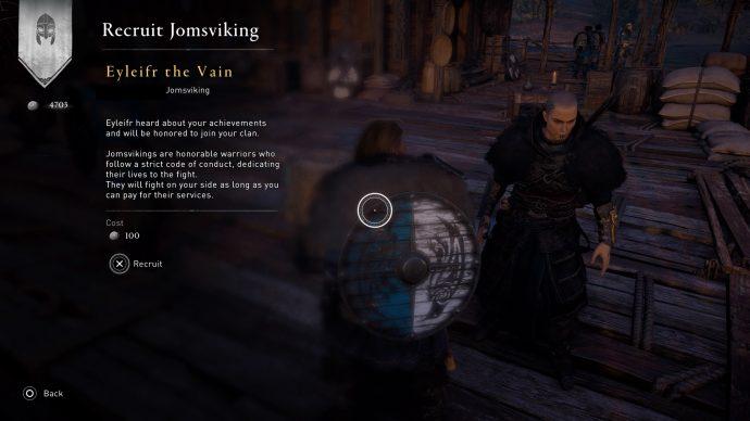 Seorang Jomsviking di Assassin's Creed Valhalla