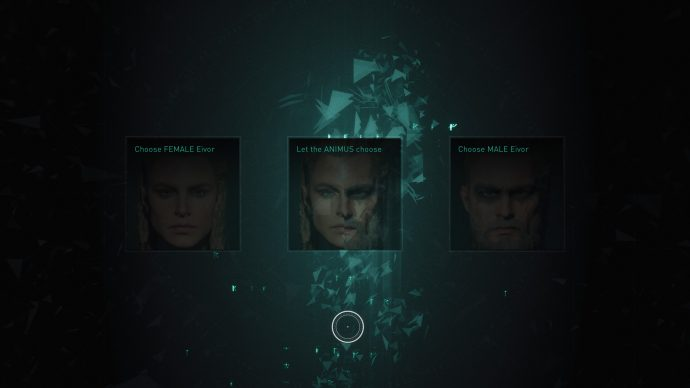 character selection screen in Assassin's Creed Valhalla