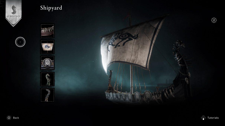 longship customisation in Assassin's Creed Valhalla