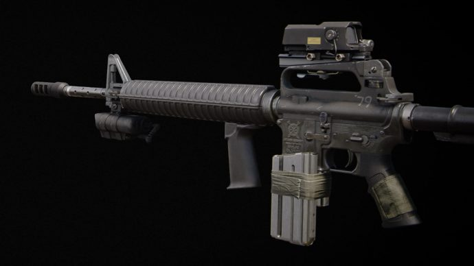 A screenshot of the M16 in Call Of Duty: Black Ops - Cold War.
