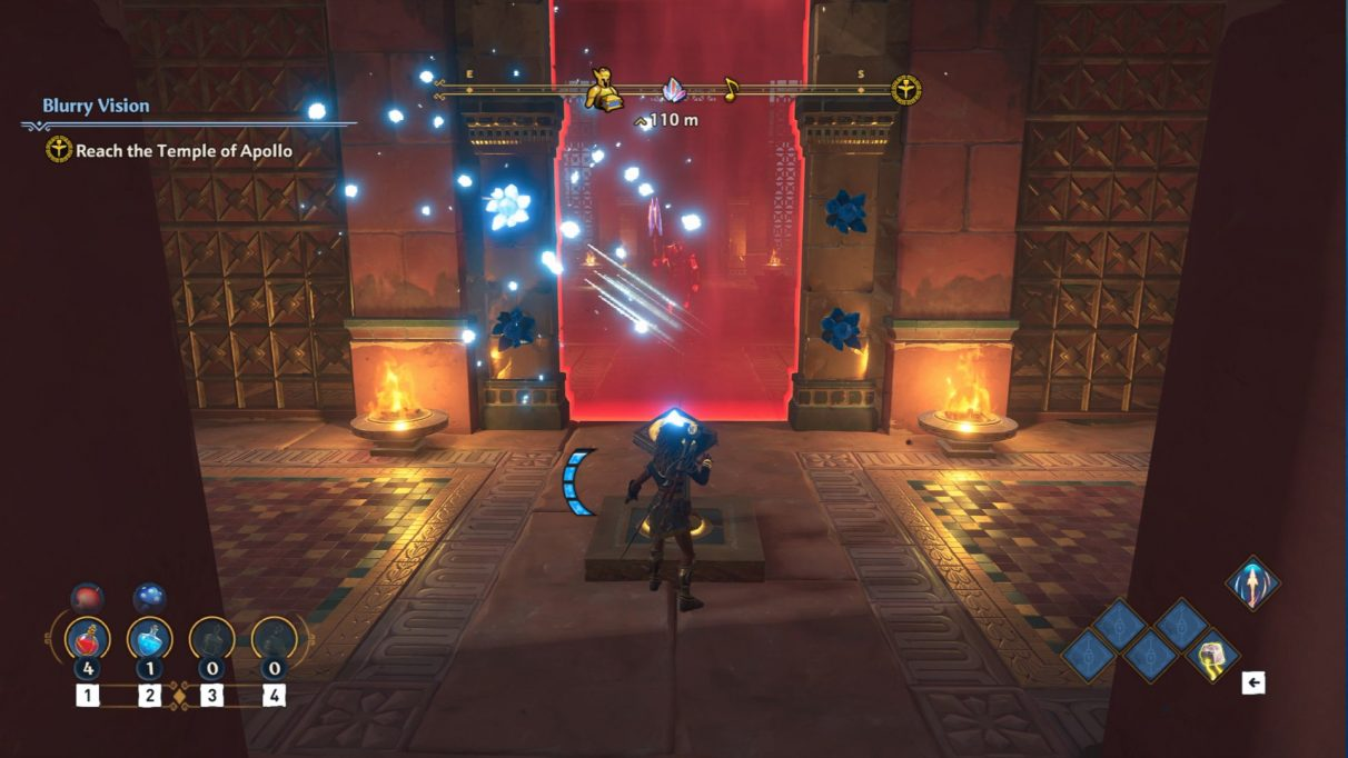 A screenshot of the entrance to the Midas Temple.