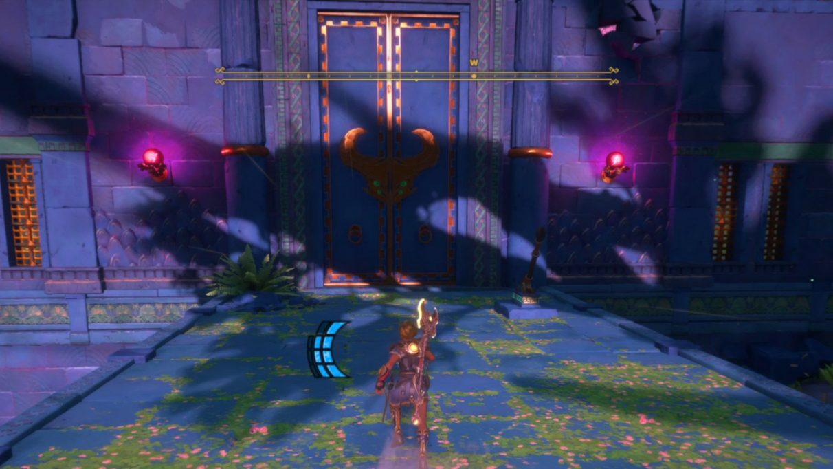The left path takes you through two arenas with enemies to slay and seeds to burn.