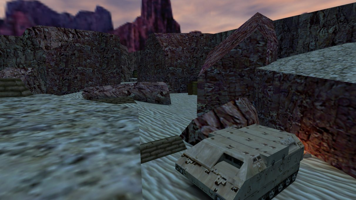 Screenshot of the Counter-Strike map cs_desert.