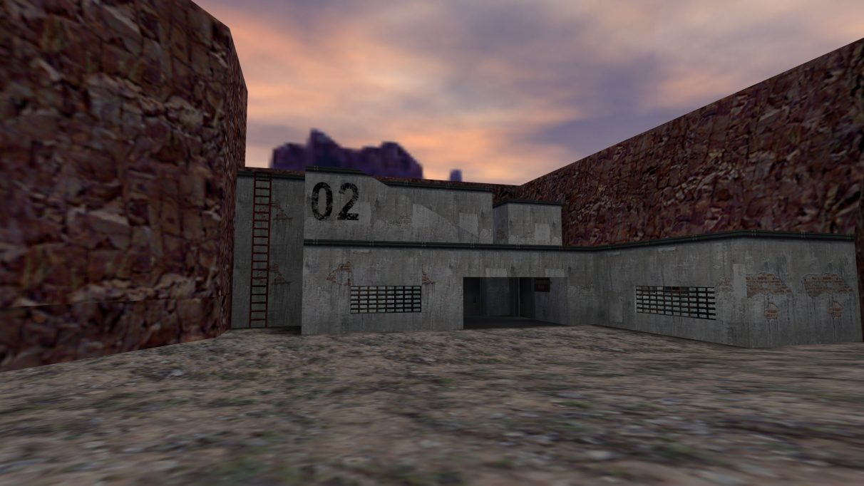 Screenshot of the Counter-Strike map cs_hideout.