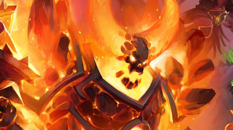 Kerangka lapis baja besar yang sedang terbakar, tapi dia terlihat lebih kecewa daripada marah.