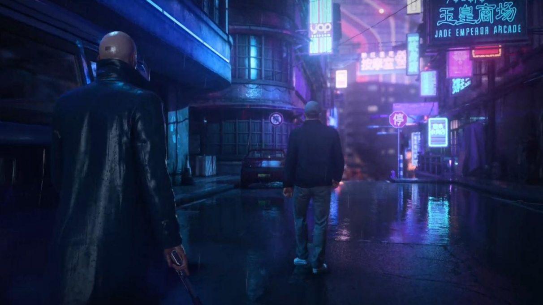 Hitman 3 screenshot showing Agent 74 in Chongqing.