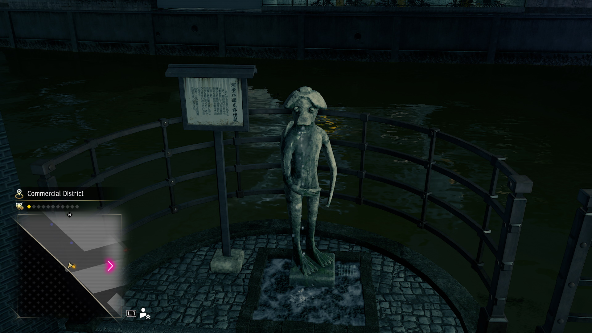 One of the Kappa statues, riverside in downtown Yokohama.