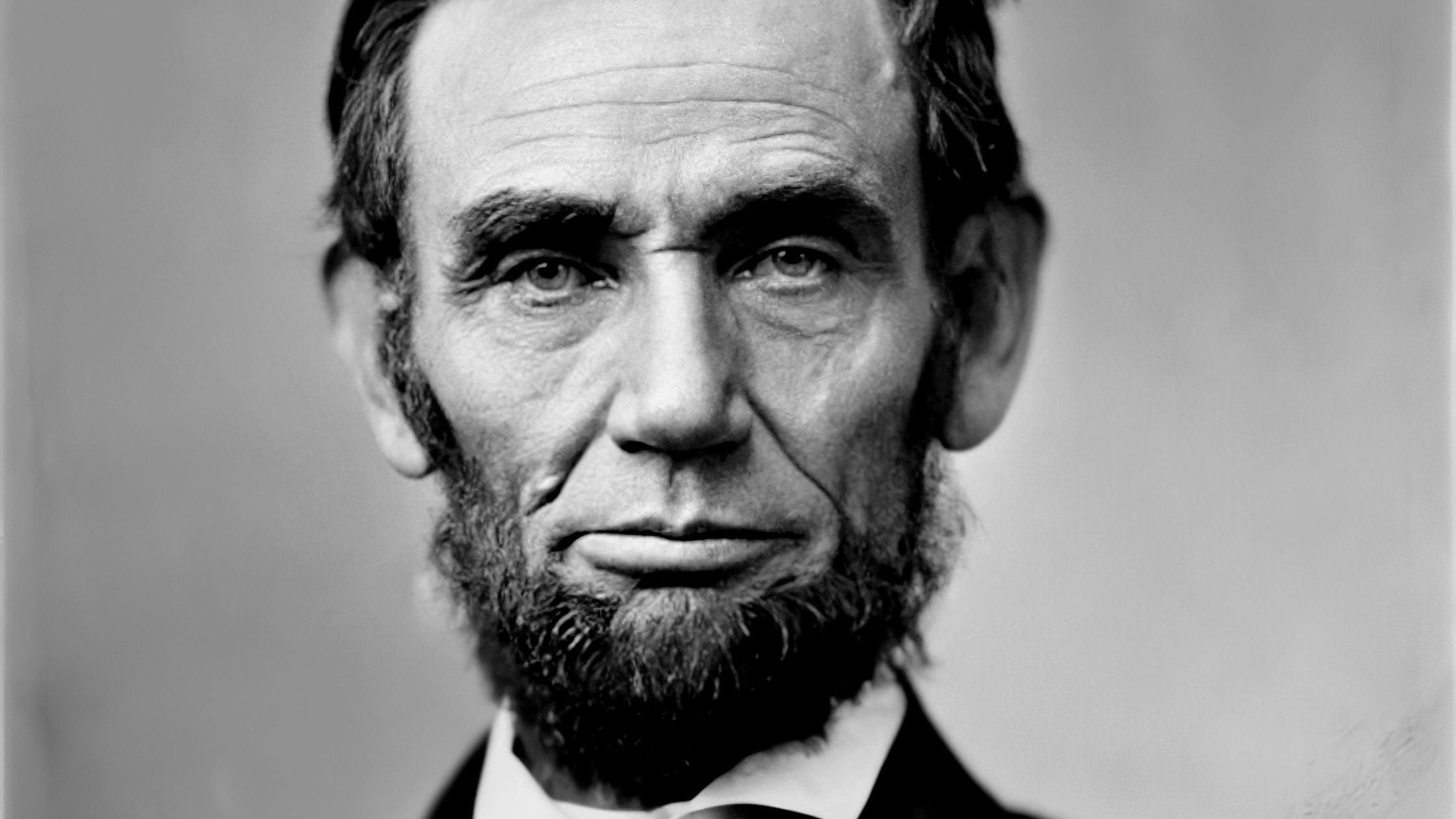 An actual real life photograph of Abraham Lincoln.