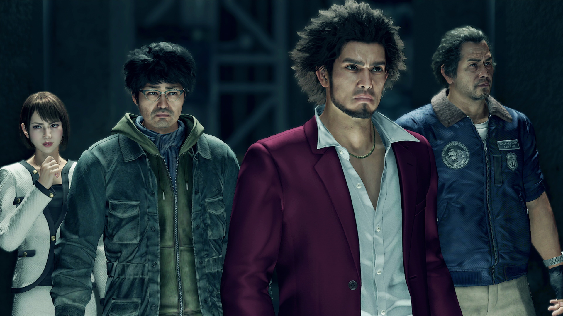 All the party members in Yakuza: Like a Dragon.