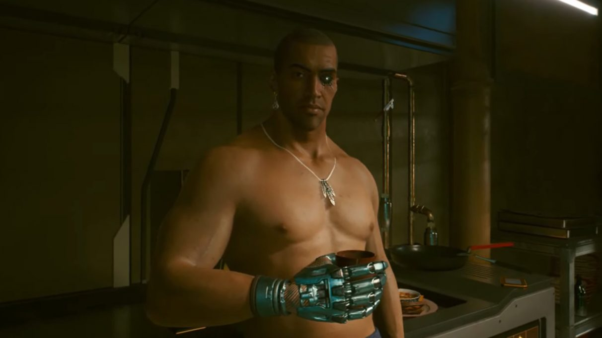 A screenshot of River Ward in Cyberpunk 2077.