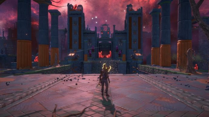 At the start of the Vault of Typhon you must complete four mini-puzzles to open the doors into the main square of the Vault.