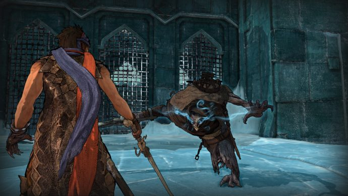 The Prince fighting an enemy in Prince of Persia 2008