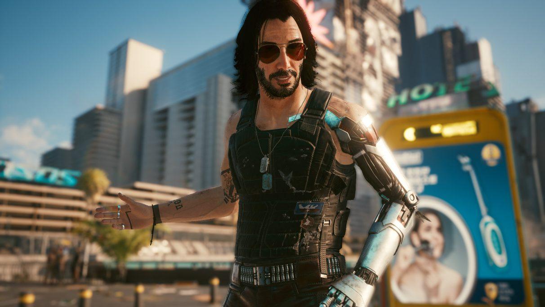 Johnny Silverhand in a Cyberpunk 2077 screenshot.