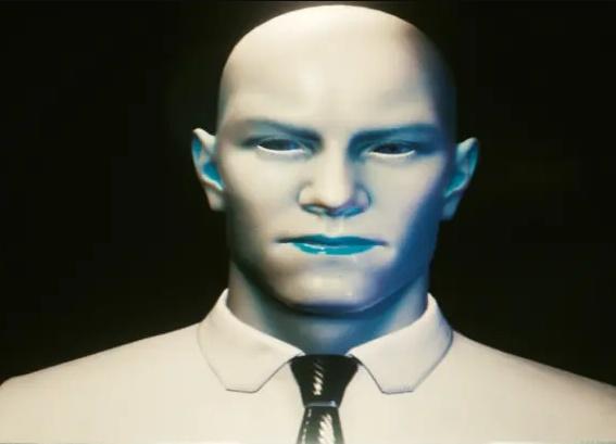 A screenshot of Delamain, a character in Cyberpunk 2077 who I hate.