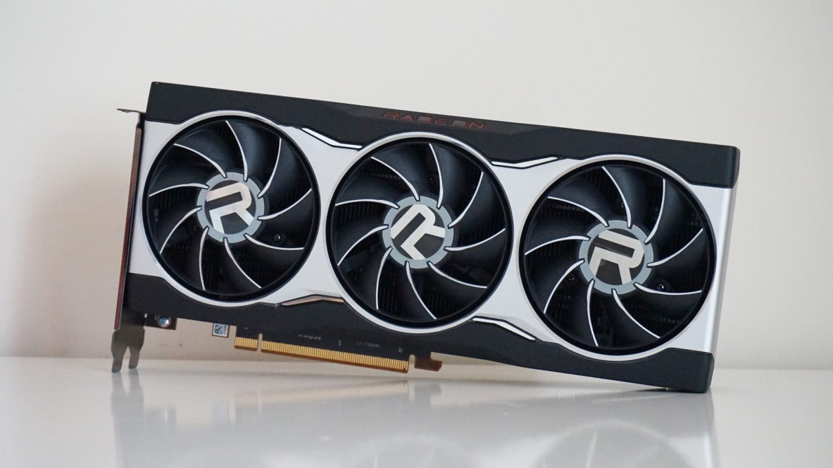 A face-on photo of the AMD Radeon RX 6800 graphics card.