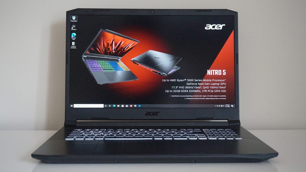 A photo of Acer's Nitro 5 gaming laptop for 2021.