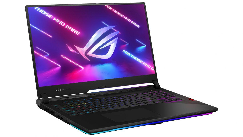 A photo of Asus' ROG Strix Scar 15 gaming laptop.
