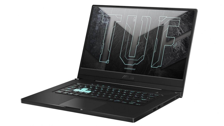 An image of Asus's TUF Dash 15 gaming laptop.