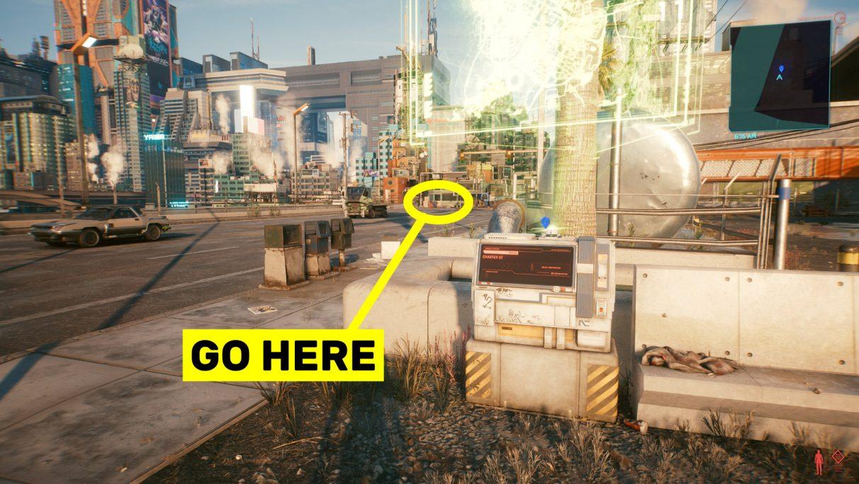Tangkapan layar ke mana harus pergi dari titik perjalanan Charter St untuk mencapai lokasi Legendary Monowire.