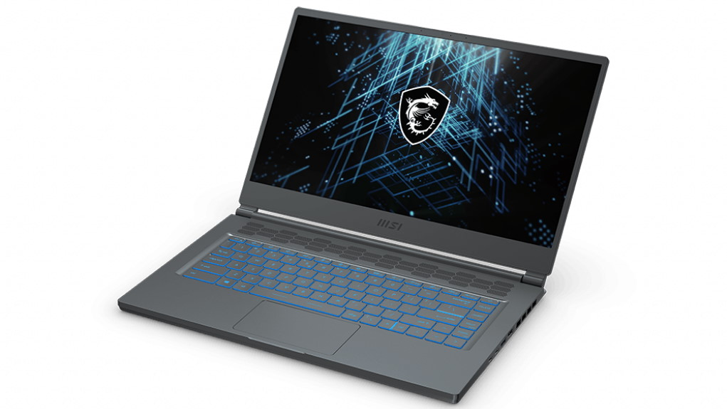 A photo of MSI's Stealth 15M gaming laptop.